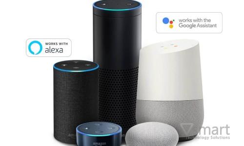 Điều khiển nhà thông minh Lumi bằng giọng nói nhờ trợ lý ảo Google Assistant và Alexa