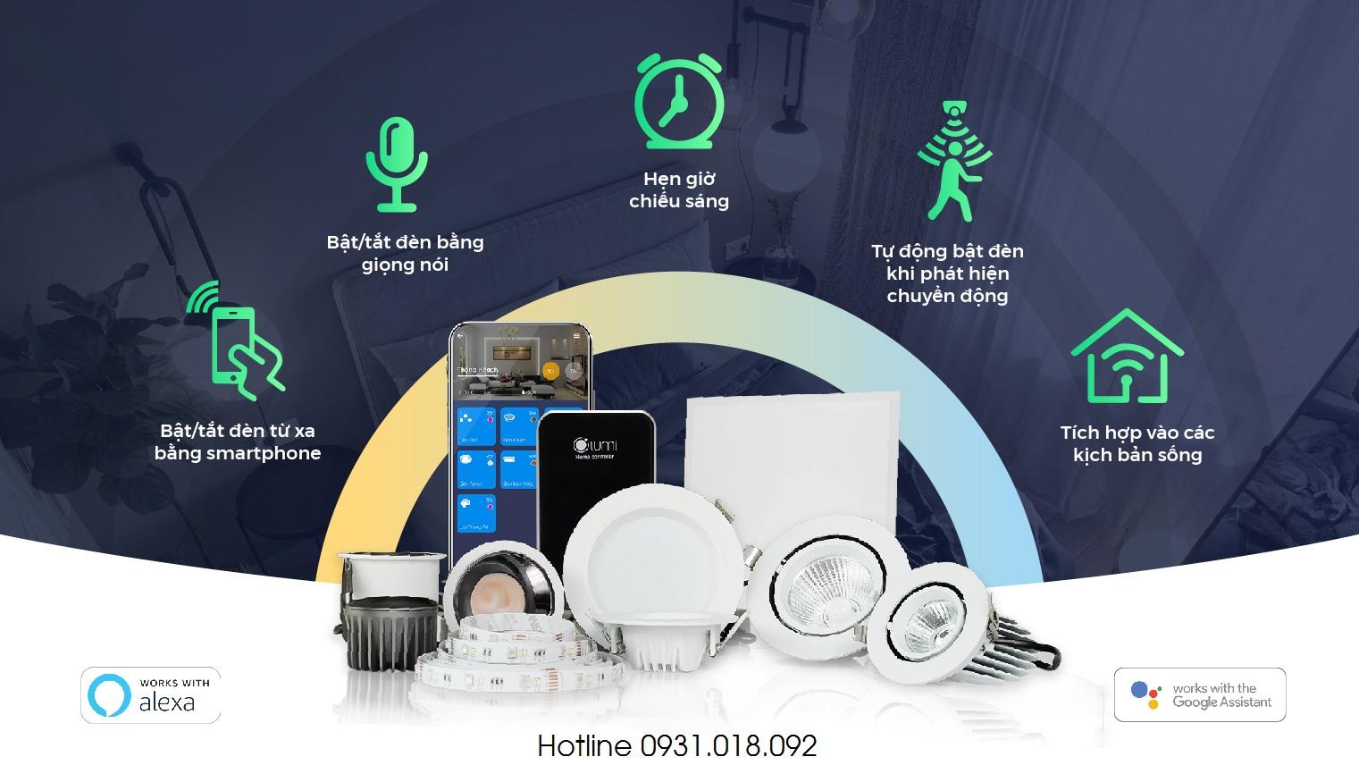chiếu sáng thông minh lumi smart lighting